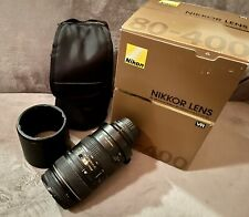 Nikon Nikkor AF VR ED 80-400mm f/4.5-5.6D sharp pro level working but needs tlc