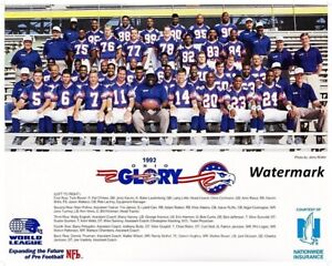 WLAF NFL Europe 1992 Ohio Glory Team Picture Color 8 X 10 Photo Picture