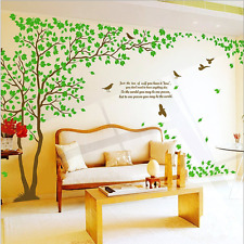 WallStickersDecal Giant Green Tree Wall Decal Sticker pair 170cm 6 ways to apply