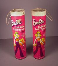Vintage 1974 Barbie Doll 2  Totes Jergens bubble bath cardboard containers MOD