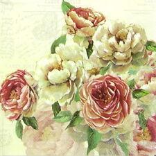 Papel 4x Servilletas Para Decoupage Decopatch Craft Vintage Rose