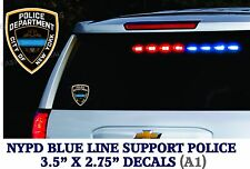 2 decals Support for Police with a Thin Blue Line & LE Officers Stickers - LE-A1
