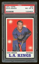 1970 Topps #33 Dave Amadio L.A. Kings PSA 8