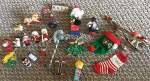 Nice lot of Vintage Wood/Metal Christmas Tree Ornaments, Nutcrackers