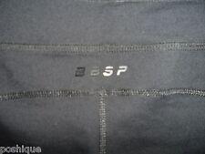 bebe Sport S Pants Logo Black Crop Legging Stretch Yoga Gym Biking Athletic