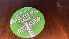 VINTAGE PIN BADGE IM AN ARCHERS ADDICT .. Archers Radio Show Ambridge