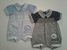Baby boys clothes spanish style caterpillar smocked striped romper 0-9 months