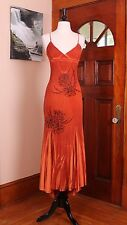 SOHO Couture Dark Orange Beaded Long Homecoming NWT Dress Sz 1 $3,380.00 retail