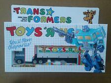 Transformers G1 1980's Toys R Us Optimus Prime Custom Box!!!