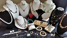 Vintage Estate To Now Signed Costume Jewelry Lot Necklace, Bracelet, Earrings