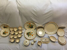 Mikasa Garden Club Petunias/Plain EC401/EC400 Dinner Ware 48 Pc Incomplete Set