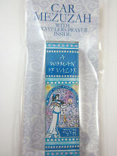 Car Mezuzah Acrylic A WOMAN OF VALOR with Travelers Prayer