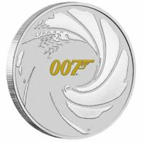 2021 James Bond 007 1oz Silver Coin with Colour in Card