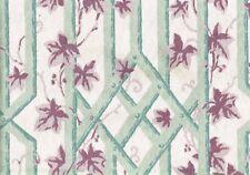 4.50 Yds Bloomcraft Fabric Ecru Lavender Green Cotton   Drapery Upholstery