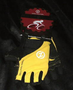 Zero Friction Women's Cycling Gloves, One Size, yellow / black NEW