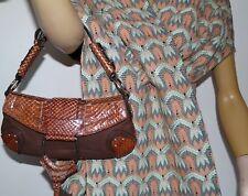 Dolce & Gabbana bolso de pitón Clutch Bag Bolsa De Polvo -100% Auténtico