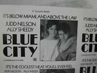 BLUE CITY Movie Mini Ad Sheet Vintage Advertising Poster Judd Nelson Ally Sheedy