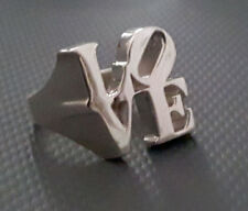 Robert Indiana 925 Sterling Silver LOVE Ring