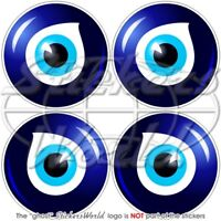 "Lucky EVIL EYE Amulet NAZAR Greek-Turkish 50mm (2"") Vinyl Stickers Decals x4"