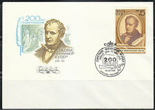 Russia 1989 FDC cover American Writer James Fenimore Cooper / Indians