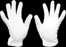 WHITE COTTON GLOVES 100% Cotton Health Music Archive Photography Lining M & L