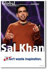 Sal Khan - Khan Academy - Don't Waste Inspiration - NEW Famous Person POSTER