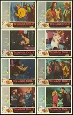 TEENAGE DOLL orig1957 BAD GIRL lobby card set FAY SPAIN/JUNE KENNEY/ROGER CORMAN
