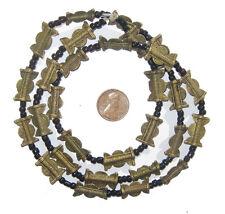 Moon Design (17x10mm) Ivory Coast African Brass Baule Beads, Sun