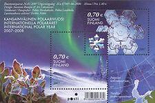 Finland 2007 MNH Sheet - Hologram Snowflake - International Polar Year - Snow