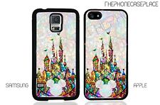 Disney Stained Glass Characters Castle Mickey Head Apple or Samsung Phone Case