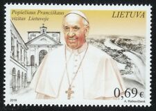 Lithuania 2018 MNH stamp Pope Francis visit to Vilnius
