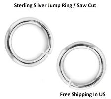 Sterling Silver Jump Ring  24 Ga - 3 MM O/D ( pack Of 50) Saw Cut