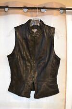 jacqueline ferrar leather vest black sz. 6 vintage 80's 90's