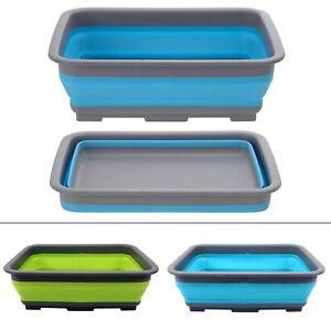 Outwell Collaps Camping faltbare Spülschüssel mit Ablauf dunkelblau