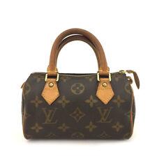 100% Authentic Louis Vuitton Monogram Mini Speedy Hand bag /60213