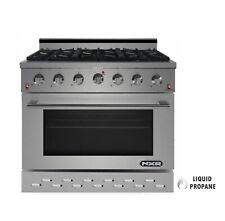 """Nxr Sc3611Lp 36"""" 5.5 cu.ft. Pro-Style Propane Gas Range with Convection Oven"""