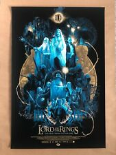 Lord of the Rings Screen Print by Vance Kelly - NT Mondo - Edition of Only 325