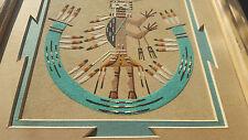 Navajo Sand Painter Wilfred Ben Meyerson Sand Art Picture-Framed-Signed