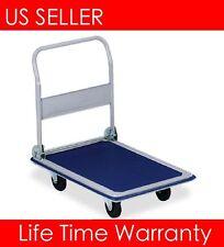 T01 Platform 330lbs Cart Folding Dolly Foldable Push Hand Truck Moving Warehouse