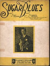 Sugar Blues 1923 Clyde McCoy Clarence Williams Sheet Music