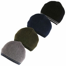 Regatta Mens 2019 Balton Beanie Cotton Fleece Lined Stripe Hat 40/% OFF RRP