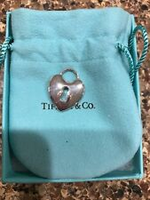 Tiffany & Co Heart Lock Charm Large 925 Sterling Silver, BNIB, RETIRED, RARE