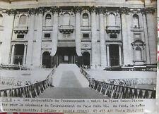Photo presse vintage 1963 Rome Place St Pierre Prépatifs du Couronnement Pape