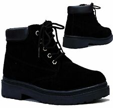 Unbranded Men's Lace Up Combat Faux Suede Boots