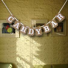 CANDY BAR Wedding Banner Card Sign Bunting Banner Birthday Party Decor Garland