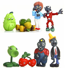 8pcs Plants vs. Zombies PVC Figures Style A Different Role Toy Gift Cake Topper