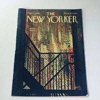The New Yorker: Sept 21 1968 Arthur Getz City Street From A Fire Escape full mag