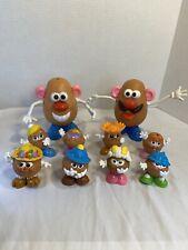 1985-87 Mr Potato Head & Potato Spuds Lot Of 10 With Accessories Vintage Hasbro