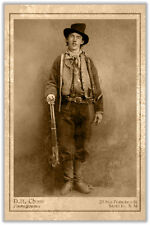 BILLY THE KID William H. Bonney Wild West Legend Notorious Outlaw CDV RP