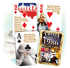 Flickback 1986 Trivia Playing Cards: Great Birthday or Anniversary Gift